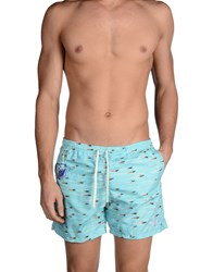 Macchia J Swimwear Swimming Trunks Men Turquoise
