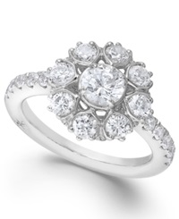Star By Marchesa Certified Diamond Ring In 18K White Gold 1 5 8 Ct. T.W.