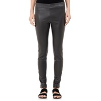 The Row Leather Lenra Leggings Dark Gray