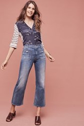 Anthropologie Mother Maverick High Rise Wide Leg Jeans Light Denim