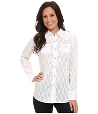 Ariat Borrendo Snap Shirt White Women's Long Sleeve Button Up