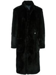 Christian Pellizzari Single Breasted Coat Black