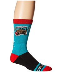 Stance Vancover Grizzlies Hardwood Classics Teal Men's Crew Cut Socks Shoes Blue