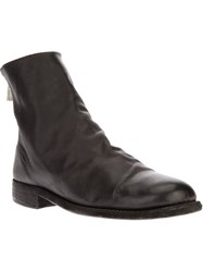 Guidi Zip Up Ankle Boot Black
