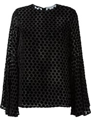 Camilla And Marc Polka Dot 'Glaze' Top Black