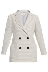 Band Of Outsiders Stripe Shrunken Db Blazer