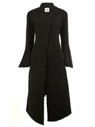 Aganovich Top Double Breasted Mid Coat Black
