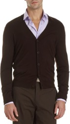 Ralph Lauren Black Label Button Front Cardigan Brown