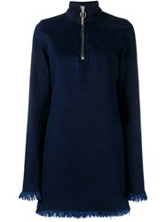 Marques Almeida Marques'almeida Longsleeved Denim Dress Blue