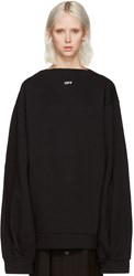 Off White Black Separate Collar Pullover