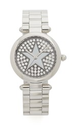 Marc Jacobs Dotty Pave Star Watch Silver Clear