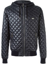 Dolce And Gabbana Quilted Jacket Blue