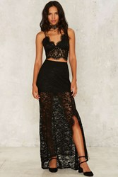 Everly Lace Maxi Skirt Black