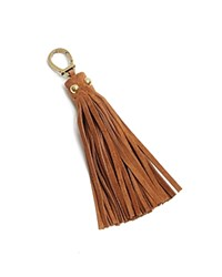 Etienne Aigner Long Suede Tassel Key Fob Saddle Suede