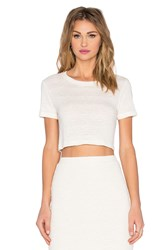 Monrow Cropped Slub Tee Cream