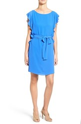 Michael Michael Kors Women's Flounce Sleeve Tie Waist Dress