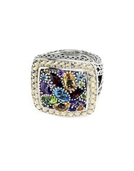 Effy Balissima Sterling Silver And 18 Kt. Yellow Gold Multicolor Stone Ring