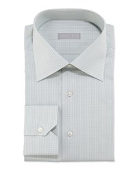 Stefano Ricci Woven Solid Neat Dress Shirt Green