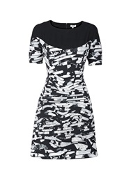 Kenzo Black And White Ponte Dress Black White Black White