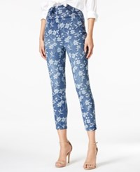 Guess Judo High Rise Printed Jeans Blue Floral