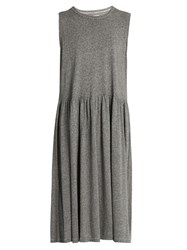 The Great Day Sleeveless Midi Dress Grey