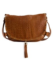 Xaa Leather Crossbody Bag Brown