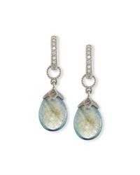 Jude Frances Pear Shaped Labradorite Briolette Earring Charms With Diamonds