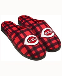 Forever Collectibles Cincinnati Reds Flannel Slide Slippers
