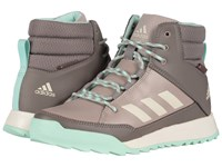 Adidas Cw Choleah Sneaker Leather Vapour Grey Chalk White Tech Earth Women's Cold Weather Boots Gray