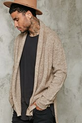 Forever 21 Shawl Collar Woolen Cardigan Taupe