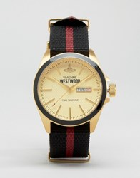 Vivienne Westwood Canvas Stripe Strap Watch Mulit Multi