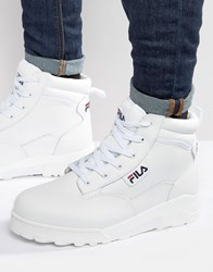 Fila Grunge Mid Laceup Boots White