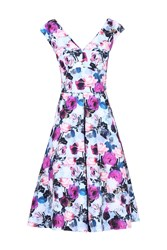 Jolie Moi Sweetheart Fit And Flare Dresss Purple