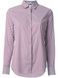 Brunello Cucinelli Striped Shirt Red
