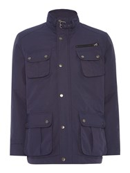Howick Men's Paxon Four Pocket Field Jacket Navy