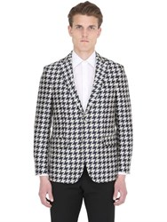 Ettore Bugatti Collection Houndstooth Cotton And Silk Blend Jacket