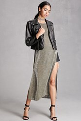 Forever 21 Metallic High Slit Dress
