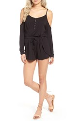 Rip Curl Women's Stevie Crochet Back Cold Shoulder Romper