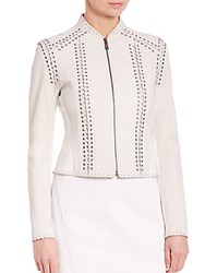 Elie Tahari Janet Leather Jacket Antique