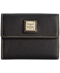 Dooney And Bourke Pebble Small Flap Wallet Black Black