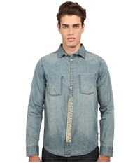 Altamont Zefer Denim Shirt Faded Wash Men's Clothing Black