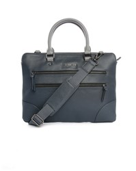 Ted Baker Blue Pu Briefcase With Grey Contrast