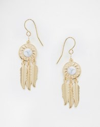 Asos Sun Catcher Mini Earrings White Silver
