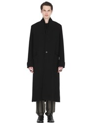 Isabel Benenato Deconstructed Oversize Wool Cloth Coat