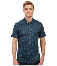 7 Diamonds Emerald Knight Short Sleeve Shirt Teal Men's Short Sleeve Button Up Blue