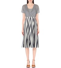Karen Millen Striped Jersey Dress Multi Coloured