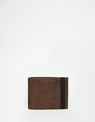 New Look Elasticated Faux Leather Wallet Brown