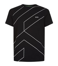 Hugo Boss Green Cell Print Graphic T Shirt Male Black