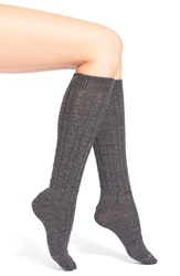 Wigwam Cable Knit Knee Socks Med Grey Heather