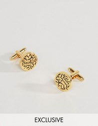 Reclaimed Vintage Gold Bamboo Cufflinks Gold